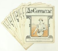 Complete File of Rare West of Ireland Cultural Magazine Periodical: An Connachtach,