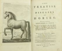 Gibson (Wm.) A New Treatise on the Diseases of Horses, 2 vols. 8vo L. 1754. Second Edn., engd.