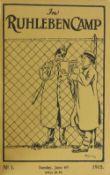 Rare World War Internment Camp Magazine World War One: Internment Camp - In Ruhleben Camp,