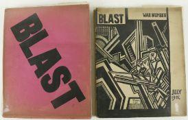 Periodical: Lewis (Wyndham)ed. Blast, No. 1 (June 20th, 1914, & No. 2 July 1915) 2 vols., L.