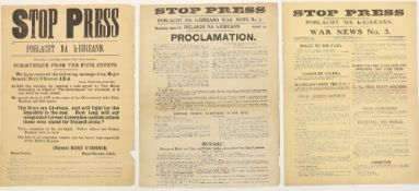 Important Civil War Periodical The Largest Set to Come for Public Auction Broadsides: Stop Press -