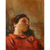 "FRANCESCO GALANTE (1884-1972) ""Dama che riposa"" - ""Lady resting"""