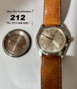 Rolex Tudor Oyster Royal gents watch with leather strap, working
