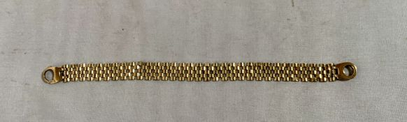 9k gold bracelet, w:11.5 grams length 7.5""