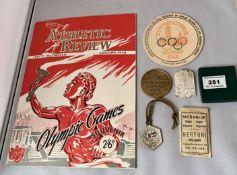 Olympics London 1948 memorabilia including Aquatics Directions for Officials and Competitors,Taylor,