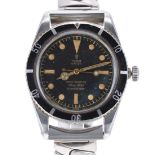 Extremely Rare Tudor Oyster Submariner stainless steel gentleman's wristwatch, ref. 7923, serial no.