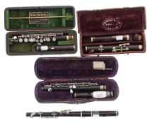 Blackwood piccolo by and stamped Rudall, Carte & Co. Ltd, Berners Street, Oxford Street, London, no.