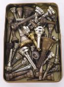 Forty assorted brass instrument mouthpieces (40)