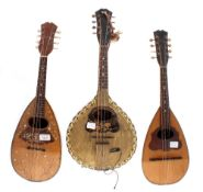 French bowl back mandolin labelled Antoni, Mirecourt, with rosewood multi section bowl back, fine