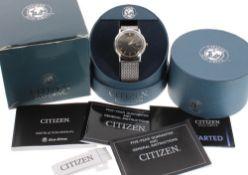 Citizen Eco-Drive stainless steel gentleman's bracelet watch, ref. E111-S090873, serial. no.