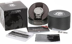 Citizen Eco-Drive Radio Controlled chronograph gentleman's bracelet watch, ref. BY0100-51 H,