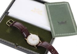 Smiths Astral 9ct gentleman's wristwatch, London 1973, case ref. 1716/1, circular silvered dial with