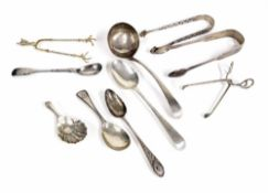 "George III silver sauce ladle, maker Peter, Ann & WIlliam Bateman, London 1802, 6.5"" long;"
