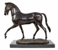 After Pierre Jules Mene (1810-1879) - large bronze figure of a horse, Talos gallery, impressed