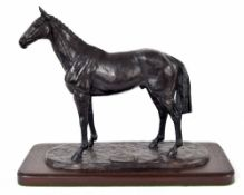 Harriet Glen (Contemporary) - 'Arkle' bronze figure of the horse, titled to the base and signed,