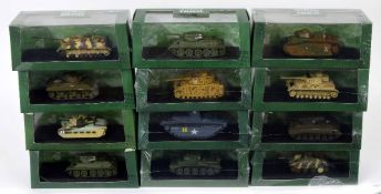 Twelve Atlas Editions Ultimate Tank Collection die cast scale models