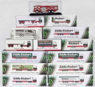 Editions Atlas Eddie Stobart - fourteen die cast scale model Stobart vehicles including special