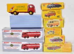 Atlas Editions Dinky motor vehicles - 555, 482, 106, 197, 159, 920, 943, 518 and 943 (9)