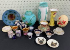 Mixed collection of porcelain to include Continental, Limoges, Dresden, Vienna type etc. ;