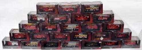 Twenty five Editions Atlas die cast scale model fire engines (25)