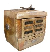 """Vintage enamelled cast iron stove, with 'Panda' branded components inside, 21.5"""" wide, 13"""" deep, 20"""""""
