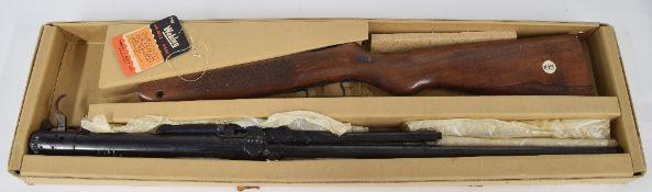Webley Mark 3 .22 air rifle, no.11169, in original box with tag
