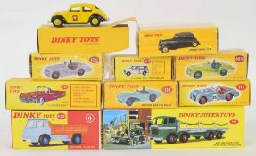 Atlas Editions Dinky motor vehicles - 105, 111, 555, 262, 197, 435, 24N, 104 and 935 (9)
