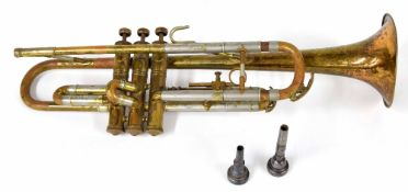 Besson trumpet, serial no. 139168, with two Besson mouthpieces