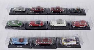 Eleven Editions Atlas scale die cast model Jaguar motor cars