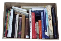 Box of reference books relating to Indian and African Tribal art and history