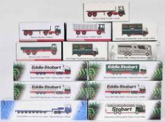 Editions Atlas Eddie Stobart - thirteen die cast scale model Stobart vehicle including Stobart Sport