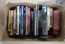 Box of reference books mainly relating to early radio and wireless; together with a box of Old Motor