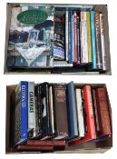 Two boxes of Antiques and collectibles reference books including some camera and photography