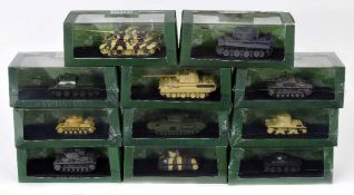 Eleven Atlas Editions Ultimate Tank Collection die cast scale models