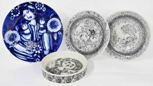 """Bjorn Wimblad for Nymolle - pair of seasons plates, Autumn and Summer, 10.5"""" diameter; together with"""