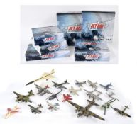 Six Editions Atlas 'Jet Ace' die cast scale model military aircraft; together with a collection of
