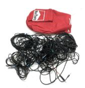 Bernie Marsden - Marlboro duffel bag enclosing a selection of audio cables