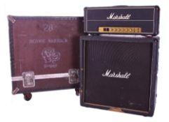 Bernie Marsden & Whitesnake - Marshall half stack including a 1976 Marshall JMP model 1959 Super