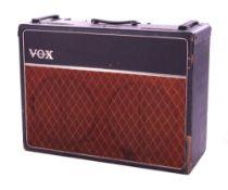 Bernie Marsden - Vox AC30 guitar amplifier, made in England, circa 1963, ser. no. 7703N, copper