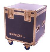 Bernie Marsden - flight case bearing a 'B. Marsden 32' stencil, used in the Selfridges, London