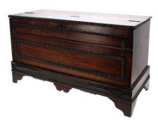 """19th century rosewood portable hand harmonium by Alexandre Pere, Paris, 12"""" high, 21"""" wide"""