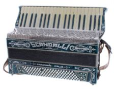 Italian one hundred and twenty button piano accordion by Scandalli of Camerano, also a Sante