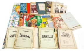 Selection of vintage and later sheet music for various instruments but mainly piano