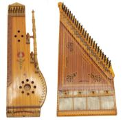 Turkish qanun zither; together with an Hungarian fretted board zither (2)