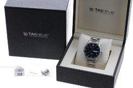 Tag Heuer Carrera Calibre 5 automatic stainless steel gentleman's bracelet watch, ref. WAR201E,