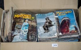Collection of Vintage Meccano Magazines dating from the 1940s, 1950s and 1960s.