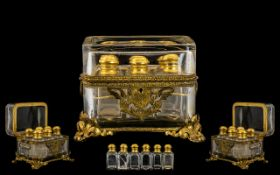 A French 19th Century Superb Quality Glass and Gilt Bronze Mounted Casket,