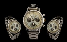 "Breitling Gents Chronograph Wristwatch ""Panda Dial"" circa 1960;s. Gents Rare Wristwatch Ref 815."