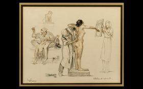 Gaston Hoffmann (1883 - 1960) Original Signed Lithographs. Glazed, mounted and framed.