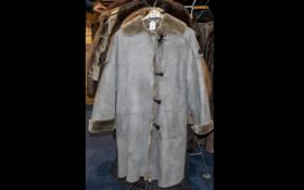 Nicole Fahri Designer Sheepskin Duffle Coat with toggle fastening and two side pockets,